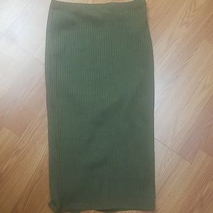 Bodycon ribbed skirt